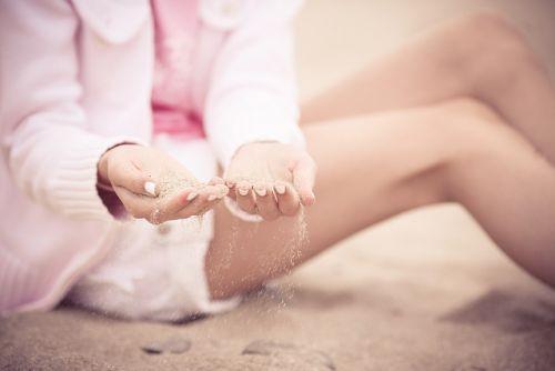 sand between fingers