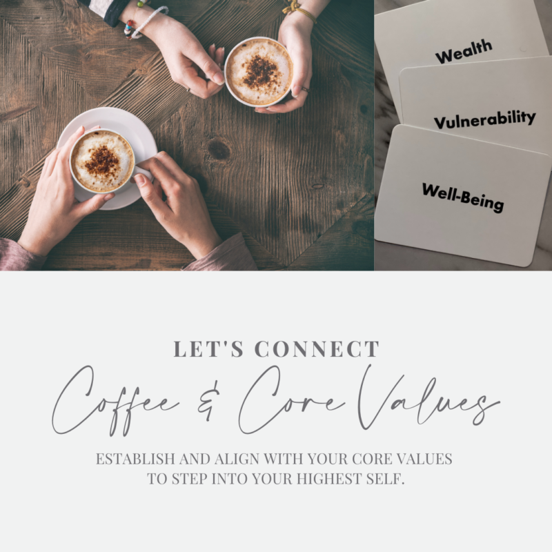 Coffee & Core Values | Jessica Kristie